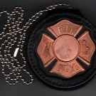 FDNY-Style-Fireman's Maltese Cross Badge Cut-Out Neck Hanger/Belt Clip combo