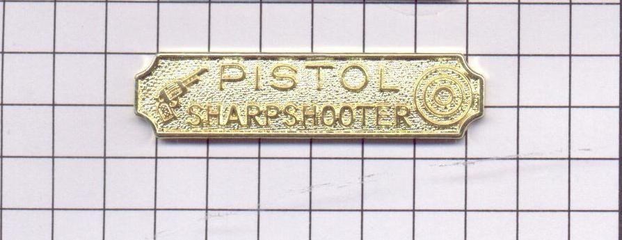 Pistol Sharpshooter Citation Bar as authorized by the NYPD-Patrol-Guide