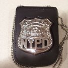NYPD-Officer-Style Cut-Out Shield & ID Neck Holder w/chain (Badge Not Included