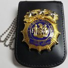 NYPD-Chief of Internal Affiars-Style Cut-Out Shield/ID Neck Holder with chain