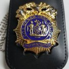 NYPD-Chief of Detectives-Style Cut-Out Shield/ID Neck Holder (Badge Not Included