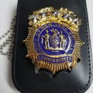 NYPD-Commissioner-Style Cut-Out Shield/ID Neck Holder (Badge Not Included