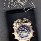 NYPD-Inspector-Style Cut-Out Shield & ID Neck Holder (Badge Not Included)