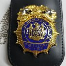 NYPD-Assistant Chief-Style Cut-Out Shield & ID Neck Holder (Badge Not Included)