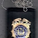 NYPD-Deputy Commissioner-Style Cut-Out Shield/ID Neck Holder (Badge Not Included