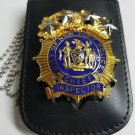 NYPD-Chief Inspector-Style Cut-Out Shield/ID Neck Holder (Badge Not Included)