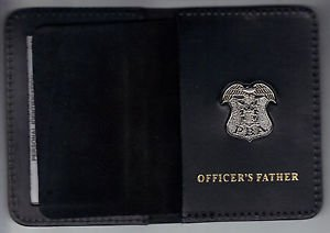 New Jersey P.B.A. Officer's Father Wallet (Silver Plated Mini Badge Included)