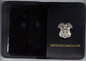 New Jersey P.B.A. Officer's Daughter Wallet (Silver Plated Mini Badge Included)