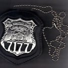 NYS Courts Officer Badge Cut-Out Neck Hanger with Chain - (Badge Not Included)