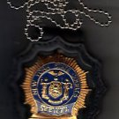 NYS Senior Court Officer Badge Cut-Out Neck Hanger w/Chain (Badge Not Included)