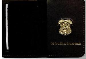 New Jersey P.B.A. Officer's Brother Wallet (Gold Plated Mini Badge Included)