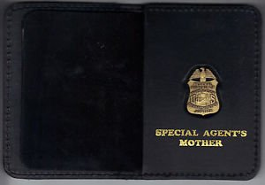 FBI Special Agent's Mother Wallet with Antique Mini Badge (from MCO Quantico)