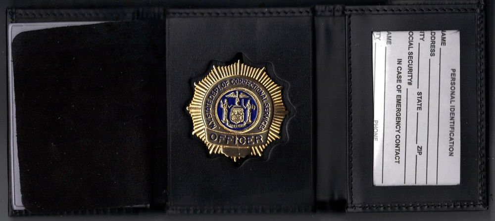 NYS-DOCS Officer's Tri-Fold money/credit card Wallet (Badge Not Included CT09