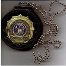 NYS-DOCS Officer's Badge Cut-Out Neck Hanger with Chain (Badge Not Included)