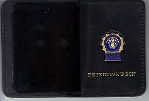 NYPD-Style-Detective Son Mini Wallet (with Blue Panel Mini included)