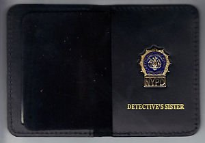 NYPD-Style-Detective Sister Mini Wallet (with Cut-Out Letters Mini)