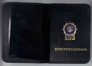 NYPD-Style-Detective Husband Mini Wallet (with Cut-Out Letters Mini)