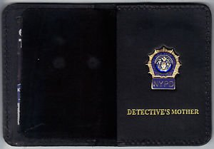 NYPD-Style-Detective Mother Mini Wallet (with Blue Panel Mini)