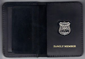 NYPD-Style-Officer Family Member Mini Badge Book Wallet (w/Cut-Out Letters Mini)