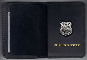 NYPD-Style-Officer's Sister Mini Wallet (with Cut-Out Letters Mini)