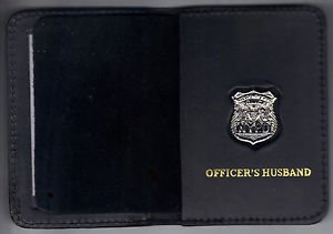 NYPD-Style-Officer's Husband Mini Wallet (with Cut-Out Letters Mini)