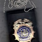 NYPD-Style Inspector Shield/ID Card Neck Holder (Badge/ID Card are Not Included)