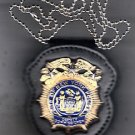 NYPD-Style Deputy Commissioner Badge Cut-Out Neck Hanger/Belt Clip (No Badge)