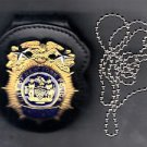 NYPD-Style Assistant Chief Badge Cut-Out Neck Hanger/Belt Clip (No Badge)