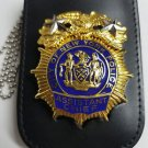 NYPD-Style Assistant Chief Shield/ID Card Neck Holder  (Badge/ID Not Included)