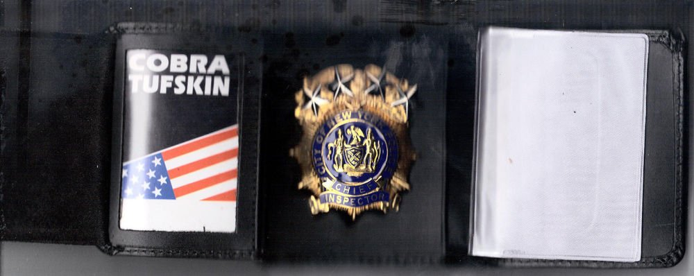 NYPD-Style-Chief Inspector Money/Credit Card Wallet (Badge Not Included) CT-09