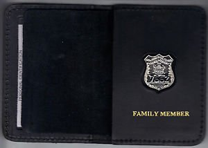 NYS Courts Officer Family Member Mini Badge Wallet (Mini badge included)