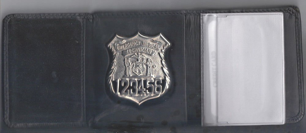 NYS EMT Police Officer Style Tri-Fold money/cc Wallet (Badge Not Included) CT-09