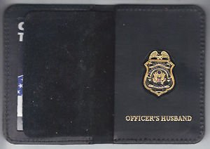 Federal Reserve Police Officer's Husband Wallet with Antique Mini Badge included