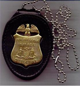 Philadelphia Police Detective Badge Large Neck Hanger (Badge Not Included)