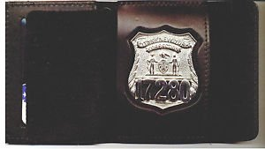 NYC Correction Officer Badge Cut-Out Shield/ID Wallet (Badge Not Included)