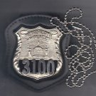NYS Metro North Police Officer Badge Neck Hanger w/Chain - (Badge Not Included)
