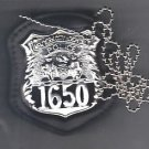 NYC Hospital Police Officer CutOut Neck Hanger with Chain - (Badge Not Included)