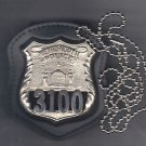 NYS Metro North Police Officer Neck Hanger/Belt Clip Combo (Badge Not Included)