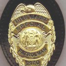 NYPD-Style School Safety Teardrop Badge Cut-Out Belt Clip (Badge Not Included)