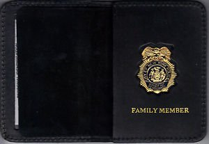 NYPD-Style Police Chief of Personnel Family Member Wallet (w/Mini badge included