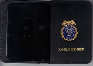 NYPD-Police Chief of Department Family Member Wallet (w/Mini badge included)