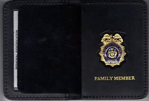 NYPD-Police Chief of Organized Crime Control Family Member Wallet (w/Mini badge