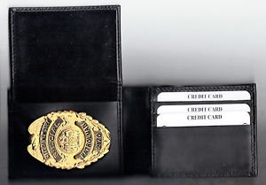NYPD-School Safety Teardrop Style Shield Money/Credit Card Wallet  - CT-70