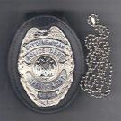 NYPD-Style Traffic Agent Teardrop Badge Cut-Out Neck Hanger (Badge Not Included)