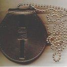 Round Generic Police or Fire Badge Belt Clip/Neck Hanger (Badges Not Included)