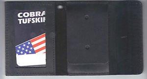 Generic Police or Fire Badge & ID Wallet with a Hook & Loop Strip Closure