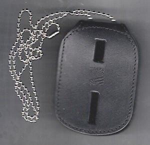 Generic Rectangle Police/Fire Badge Belt Clip/Neck Hanger (Badges Not Included)