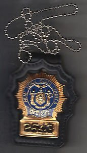 NYS Senior Court Officer Badge Neck Hanger with chain (Badge Not Included