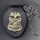 Paterson Police (NJ) New Detective Badge Neck Hanger w/chain (Badge Not Included