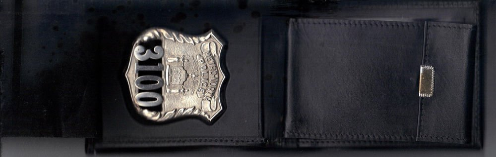 Metro North Police NY Badge Shield/ID Billfold/Picture Wallet Badge Not Included